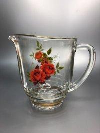 Chance Glass チャンスガラス レッド ローズ ピッチャー(レアです!) 未使用