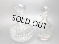 アンティーク 香水瓶 パフュームボトル ウランガラス Aペア