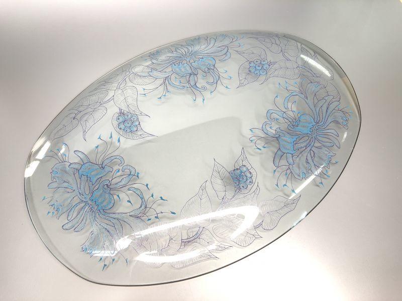 画像4: Chance Glass  チャンスガラス ハニーサックル ガラスプレート (大サイズ)