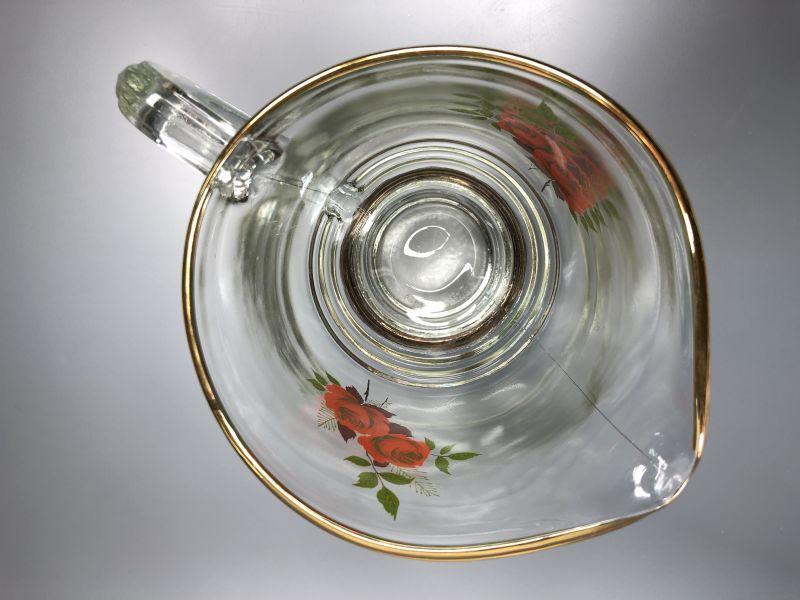 画像2: Chance Glass チャンスガラス レッド ローズ ピッチャー(レアです!) 未使用